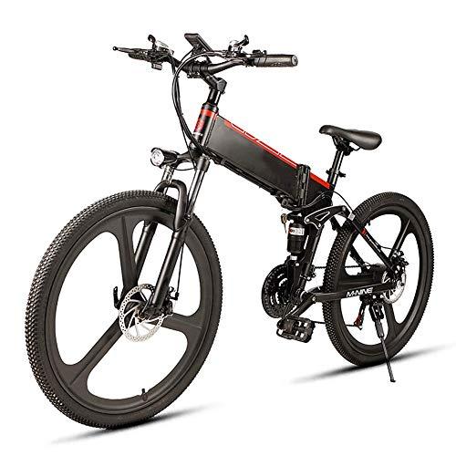 LZMXMYS Bicicleta eléctrica, de 26 pulgadas de asistencia eléctrica de bicicletas de montaña de la bicicleta eléctrica con extraíble de gran capacidad de iones de litio (48V 350W) 21 Speed Gear y tr