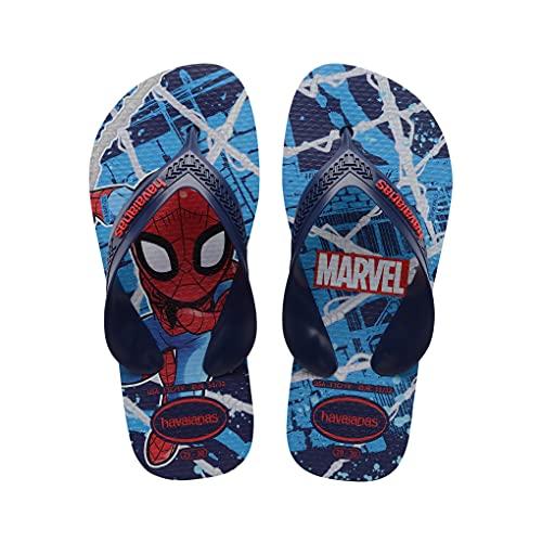 Chinelo Kids Max Marvel, Havaianas, Criança Unissex, Marinho, 33/34
