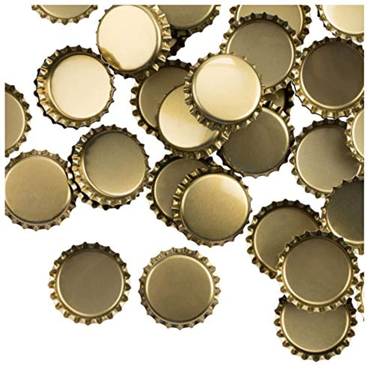 Bottle Caps- 120-Pack Craft Crown Bottle Caps, Decorative Bottle Caps, Perfect for Jewelry Making, Hairbows, Pendants DIY, Scrapbooking, Gold, 1 Inch Diameter