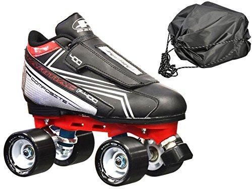 New! Pacer Tarmac F-400 Quad Roller Speed Skates w/Free Drawstring Bag! (Mens 6)