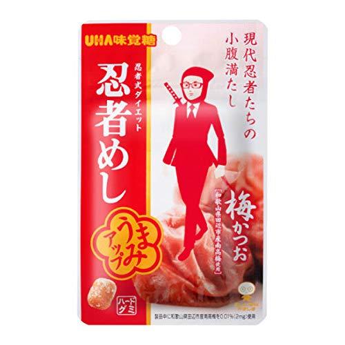 【メール便】味覚糖 旨味シゲキックス 忍者めし 梅かつお味 20G(10×2)20袋