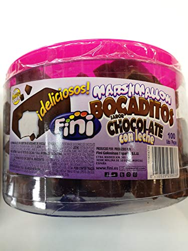 BOCADITOS MARSHMALLOW CHOCOLATE CON LECHE 100 UDS