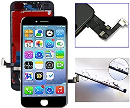 passionTR for iPhone 7 Plus 5.5 Inch Model: A1661, A1784, A1785 LCD Screen Replacement Digitizer Frame Assembly in Black