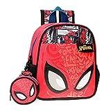 Marvel Spiderman Comic Mochila Guardería Rojo 23x25x10 cms Poliéster 5,75L