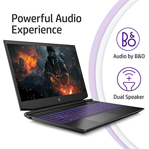 HP Pavilion Gaming 15.6-inch FHD Gaming Laptop (Ryzen 5-4600H/8GB/1TB HDD + 256GB SSD/Windows 10/144Hz/NVIDIA GTX 1650 4GB/Shadow Black), 15-ec1048AX
