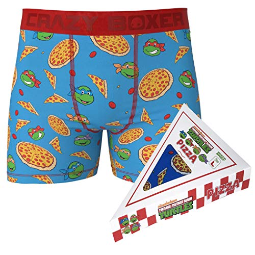 Teenage Mutant Ninja Turtle Boxershorts in Pizza-Box Gr. S, Mehrfarbig