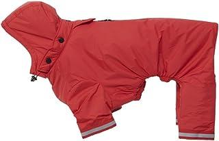 Kruuse Buster Aqua Dog Raincoat, Red, Medium/Large