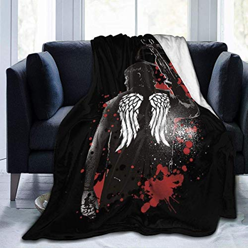 zhenglongbaihuodian Walking Dead Daryl Dixon Wings und Armbrust Fleece Flanell Decke Decke Leichte Ultra-weiche warme Bettdecke Fit Sofa Geeignet