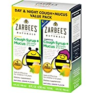 Zarbee's Naturals Children's Cough Syrup* + Mucus Daytime & Nighttime, Grape Flavor, 4 Ounces (Pack of 2)