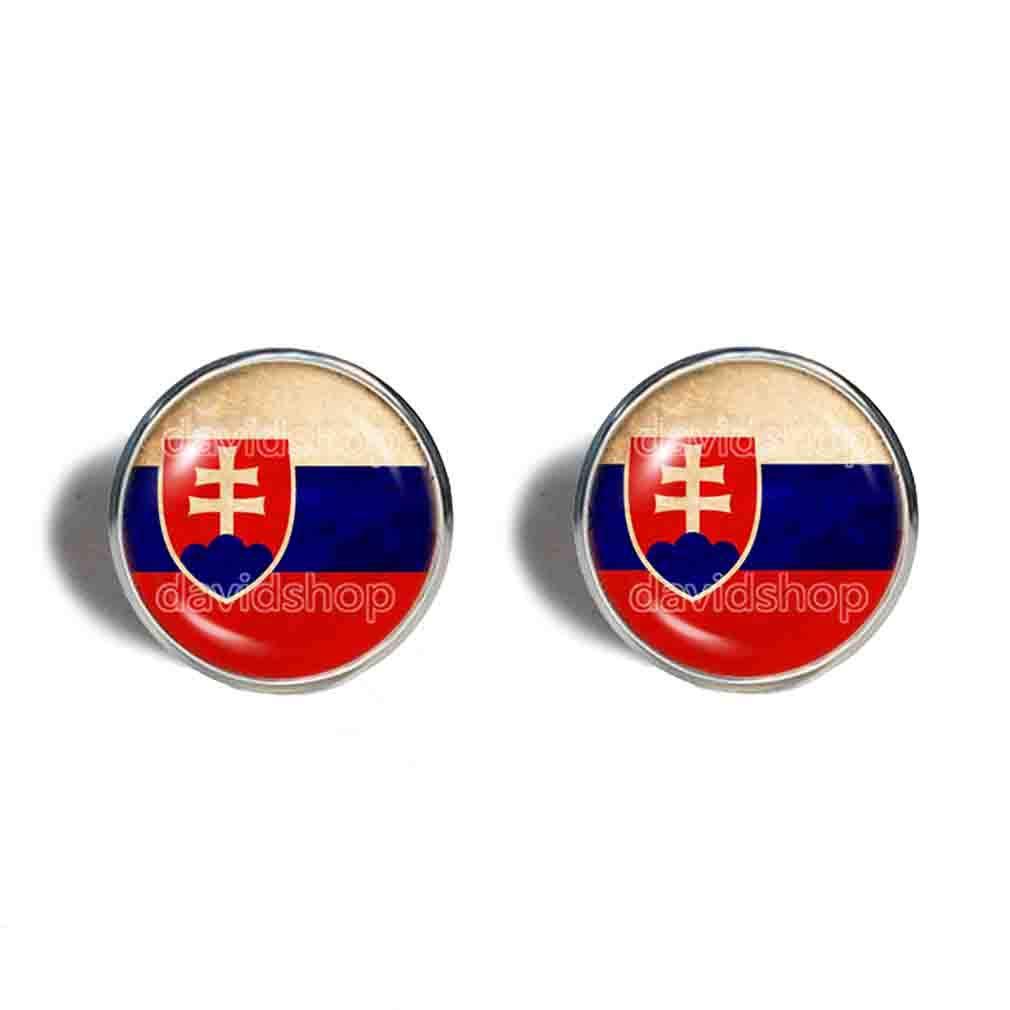 Slovakia Slovakian Free Shipping Cheap Sales Bargain Gift Flag Earrings Fashion Art Jewelry Symbol Cute