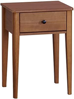 Benjara, Brown Traditional Style Wooden Nightstand with One Spacious Drawer