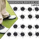 Metyere 14 Pièces Chaussures de Golf Pointes Broches Rechange Rapide Clous Anti-dérapage Portable D'Entraînement