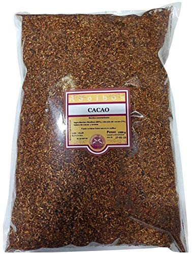 SABOREATE Y CAFE THE FLAVOUR SHOP Té Rooibos Cacao En Hoja Hebra A Granel Infusión Natural Adelgazante 1 Kg