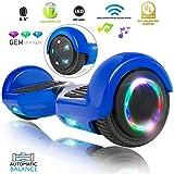 "XPRIT 6.5"" Wheel Hoverboard w/Bluetooth, Flash Wheel (Blue)"
