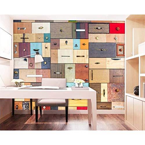 Gudojk muur muur muur muur houten kist retro lade hout wandvloer wand 3D 100x150 cm