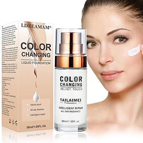 Base de Maquillaje,Base Líquida,Hidratante Líquido Base,Base de maquillaje Cobertura completa Nuevo,24H Base...