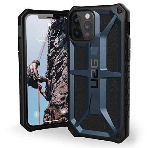 """Urban Armor Gear Monarch Funda Apple iPhone 12 / iPhone 12 Pro (6,1"""") [Protección de 5 Capas el estándar Militar, Compatible Carga inalámbrica, Resistente a los choques] Azul (Mallard)"""