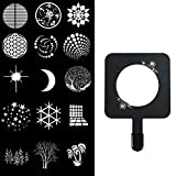 WELLMAKING 16 gobos and a GOBO Holder for Many Types of Pictures for Bowens Mount Flash snoot Condenser Modeling Film Christmas Light Film can be Customized in batches