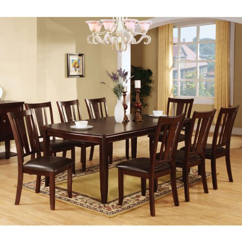 247SHOPATHOME IDF-3336T-9PC-SET Dining-Room, 9-Piece Set, Brown