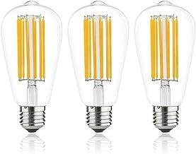 エジソン電球 LED電球 E26 12W 100W相当 ST64 非調光対応 電球色2700K 1300lm エジソンランプ 高輝度 玄関 居間 照明 3個セット