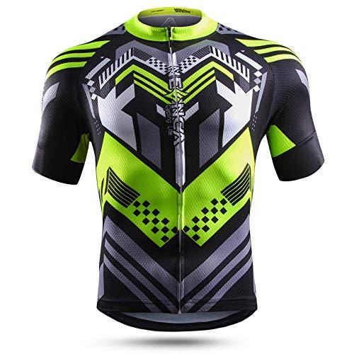 NEENCA Maillot de ciclismo para hombre, camiseta de manga corta, deportiva, transpirable,...