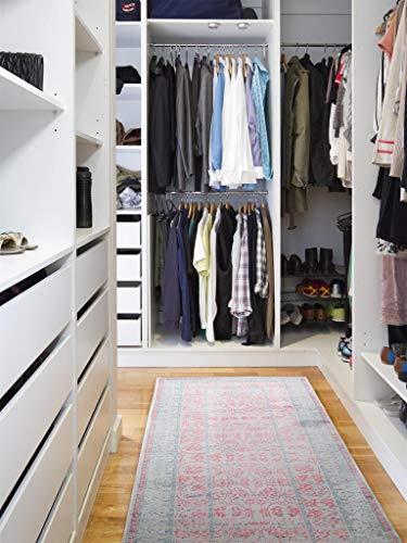 Benuta - Tappeto passatoia Visconti grigio/rosa, 70 x 240 cm, tappeto moderno per soggiorno e camera da letto