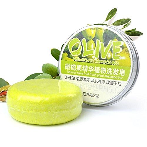 Shampoing Solide Bio, Shampoo Bar Cheveux Sec, ROMANTIC BEAR Fait Main Shampooing Savon...