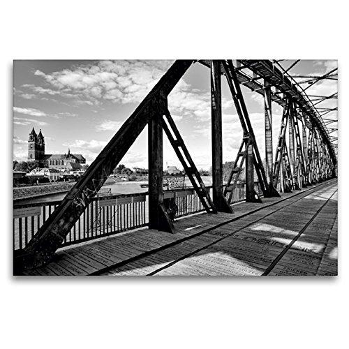 Premium Textil-Leinwand 120 x 80 cm Quer-Format Historische Hubbrücke | Wandbild, HD-Bild auf Keilrahmen, Fertigbild auf hochwertigem Vlies, Leinwanddruck von Beate Bussenius