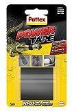 Pattex Power Tape, cinta multiusos resistente, fuerte, corte fácil, negro, 5 m
