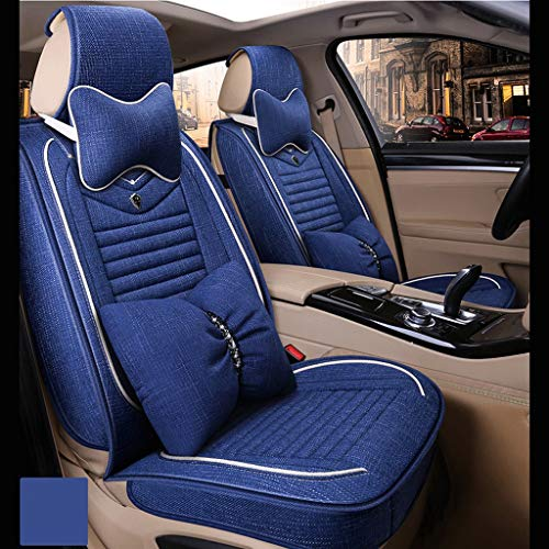 Best Deals! GXDHOME Four Seasons Universal Car Seat Cushion Fabric Seat Cover Goddess Car Seat Cushi...