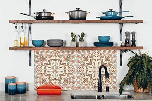 Pegatinas para azulejos de cocina, baño, decoración floral holandesa