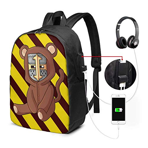 xiameng Swagger Souls Laptop Rucksack 17 Zoll mit USB-Schnittstelle, Multifunktions-Schultasche Rucksack Rucksack