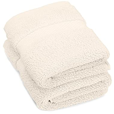 Pinzon Luxury 820-Gram Cotton Wash Cloth 2-Pack, Cream