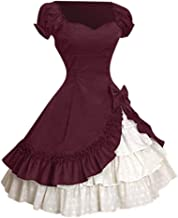 Women's Bowknot Multi Layers Classic Lolita Dress Mitiy Medieval Vintage Frill Frock Party Ball Gowns Dress