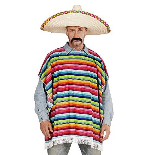 Widmann 42939 Mexikanischer Poncho, Herren, Bunt, Einheitsgröße