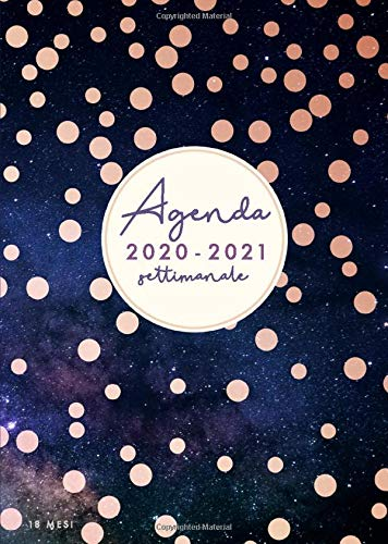 Agenda 2020/2021 18 mesi: Agenda 2020/2021 giornaliera italiano | A5 | Luglio 2020 - Dicembre 2021 | Diario 2020 2021