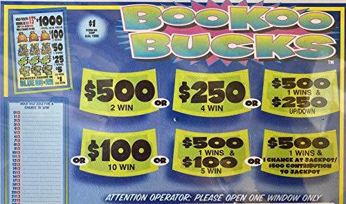 BooKoo Bucks $1,000 Bingo Pull Tabs Game, Seal Card