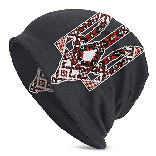 IUBBKI Trident Pixel Keep Warm in Otoño e Invierno Adulto Sombrero de Punto Hombre