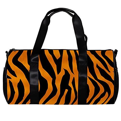 Borsone da palestra rotonda con tracolla staccabile modello tigre animale allenamento borsa per donne e uomini