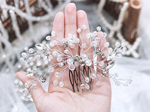 Handmadejewelrylady mariée cristal strass Peigne à cheveux mariage Cristal Coiffe élégante Coiffe mariée Accessoires
