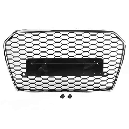 Qii lu Black mesh grille, voor RS6 RS Style front mesh grille auto accessoires