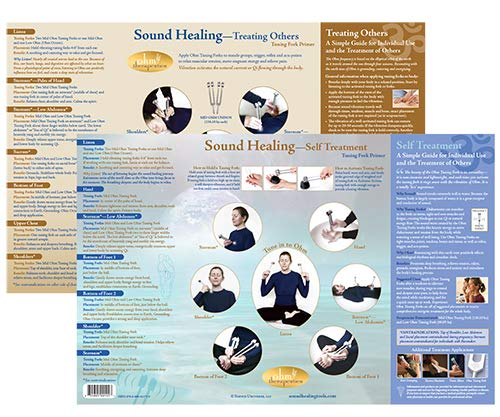 Ohm Therapeutics Sound Healing Chart – Tuning Fork Primer – A Guide for Self-Care & Treating Others with Ohm Tuning Forks