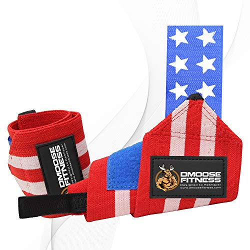 DMoose Fitness Wrist Wraps – Premium Quality, Strong Fastening Straps, Thumb Loops – Maximize...