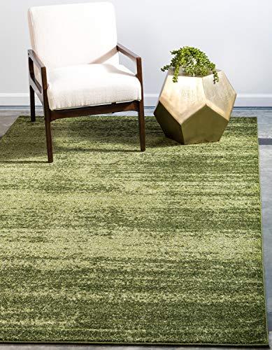 Unique Loom Del Mar Collection Contemporary Transitional Green Area Rug (3' x 5')