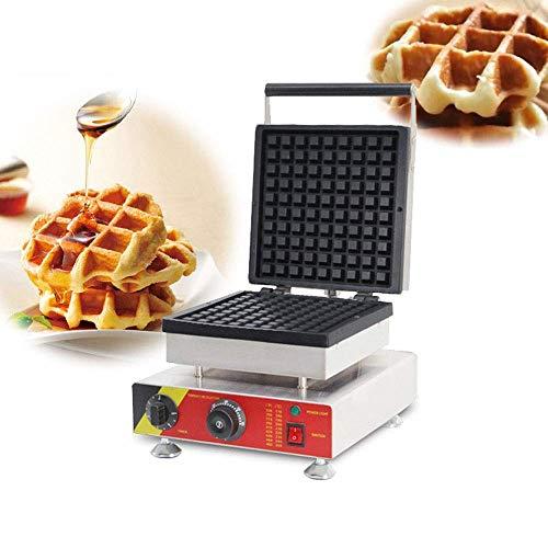 Máquina para Hacer gofres Belga eléctrica Antiadherente de 1500 W con Control de Temperatura Plancha para gofres de 2 rebanadas para gofres Dorados esponjosos Adecuada para restaurantes