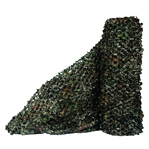 Sitong - Rollo grueso de red de camuflaje. Para caza, decoración militar, para dar sombra, 1.5Mx5M(4.9ftx16.4ft), Árbol Camo Bionic 1