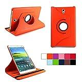 COOVY® Cover für Samsung Galaxy TAB S 8.4 SM-T700 SM-T701 SM-T705 Rotation 360° Smart Hülle Tasche Etui Hülle Schutz Ständer | orange