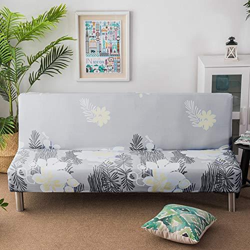 SSDLRSF Fundas sofá 150-185cm Funda de sofá Cama con Estampado de Flores de tamaño Universal Fundas elásticas sin Brazos Fundas elásticas para Asiento Plegable Protector de sofá