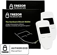 2 Pack Trezor Hardware wallet for Bitcoin BTC Litecoin LTC Namecoin Dogecoin Dash White
