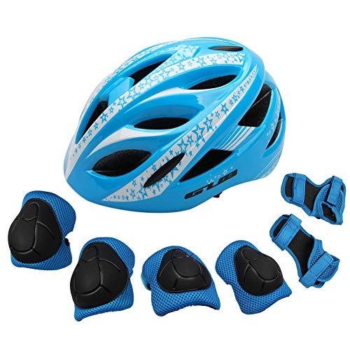 MOVIGOR Kinder Schoner Set(7er) mit Helm inliner Schützer(3-8Jahre) Fahrradhelm & Knieschoner & Ellenbogenschützer Schutzausrüstung für Fahrrad, Laufrad, Skateboard, Rollschuh